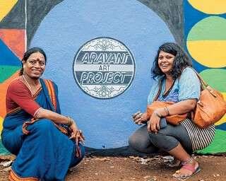 पूर्णिमा सुकुमार, जो करती हैं दीवारों पर चित्रकारी