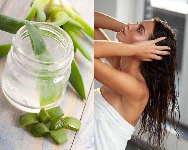 Reduce hair fall with aloe vera gel
