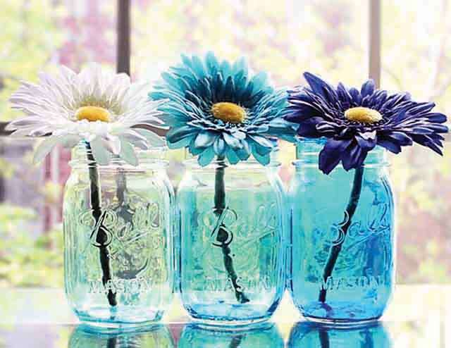 DIY: Colorful flower vase