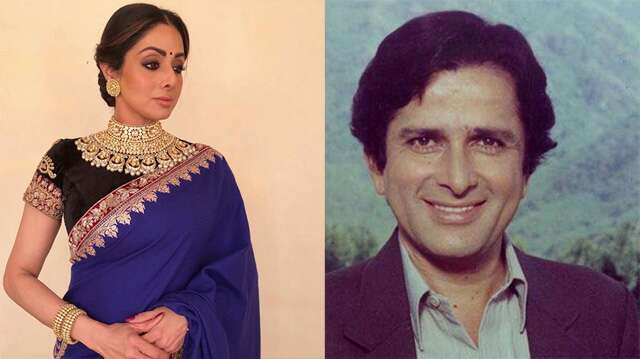 Sridevi and Shashi Kapoor