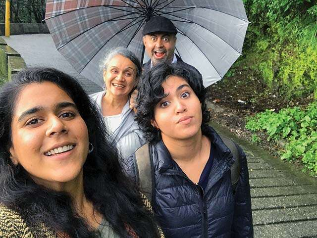 TV Actress Rytasha Rathore on family and relationship with family photograph
