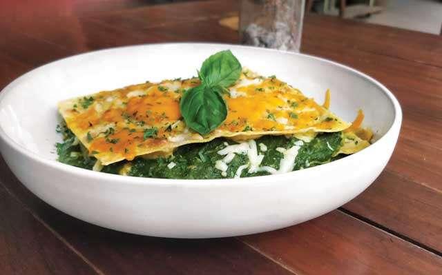 Palak and Makai aata Lasagne
