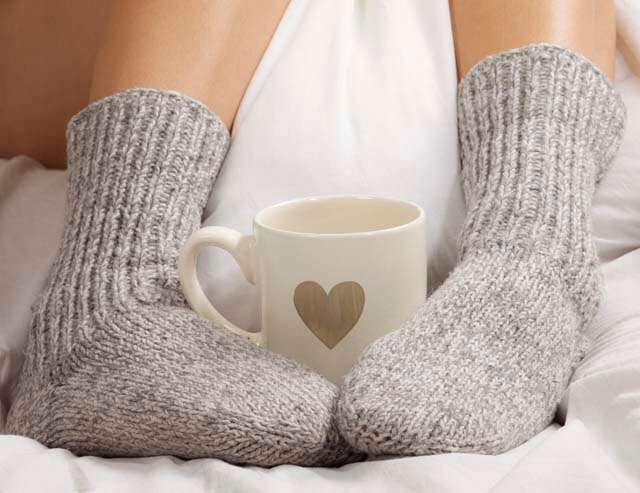 For better orgasm ware socks during sex