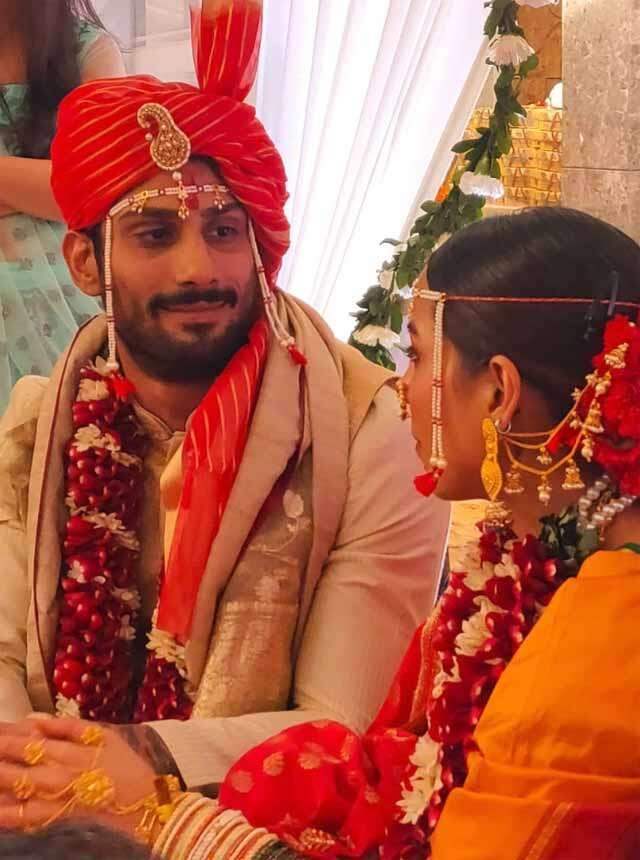 Prateik Babbar and Sanya Sagar got hitched