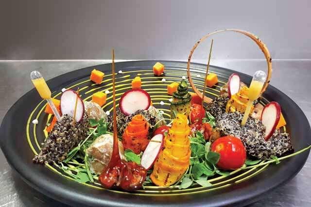 Quinoa and micro-green salad