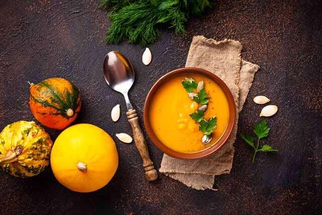 Pumpkin and orange soup