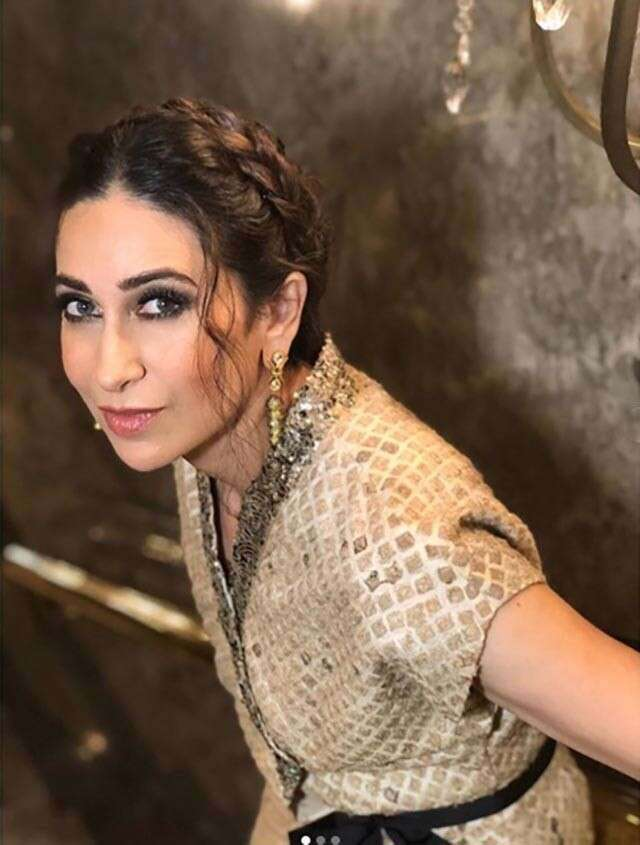 for shimmer outfits, take some tips from karishma kapoor