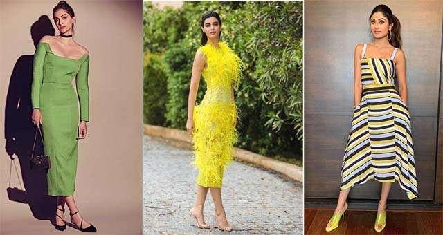Tea-length dress in trend
