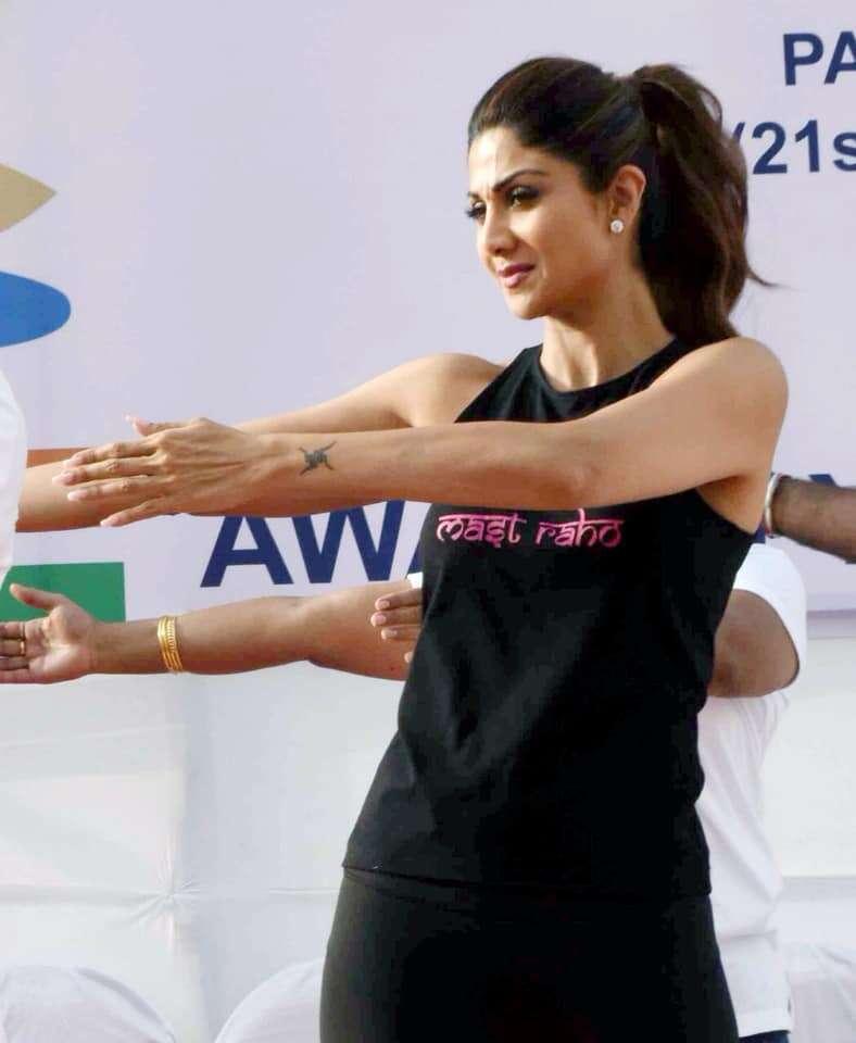 Bollywood celeb Yogasans On yoga day