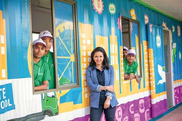 How Divya Jain uses old containers as job training centres?