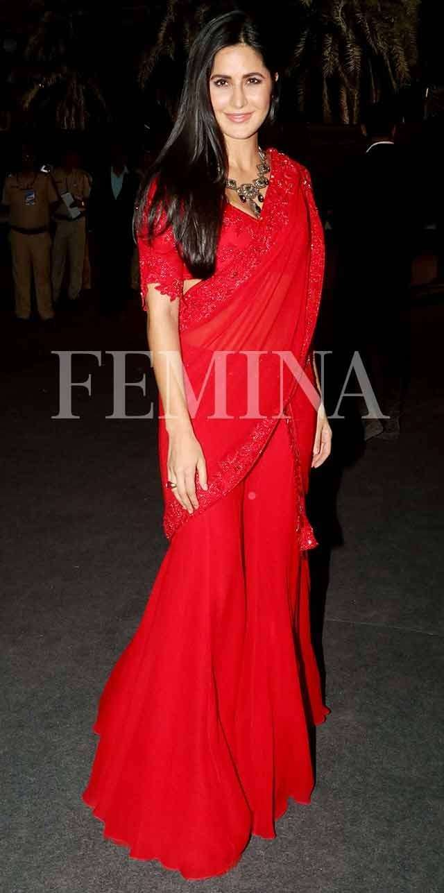 Bollywood celebs are in love with red sarees