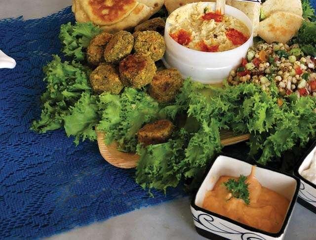 Moong sprout falafel