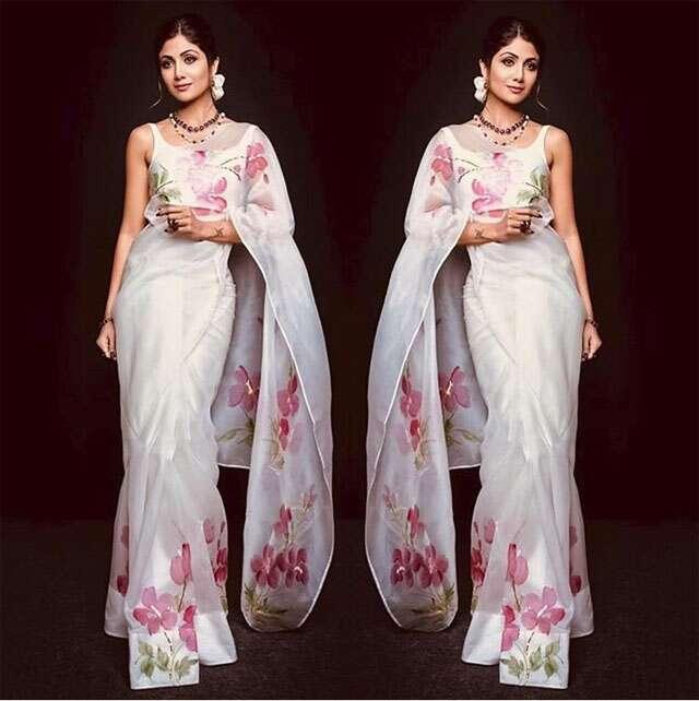 Floral Sarees Trending Again
