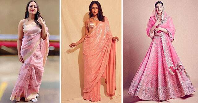 Try pink shade outfits for your wedding functions