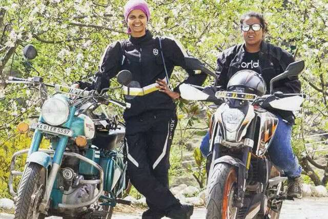 Two women bikers set fastest record south to north tour