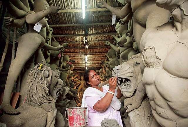 Meet Devi idol maker women artists from Kolkata