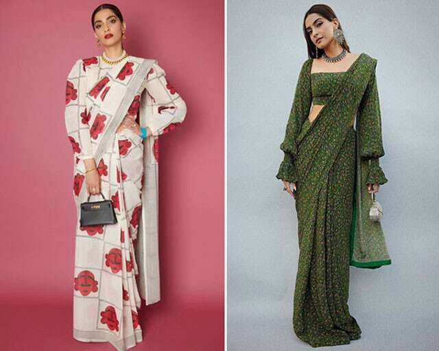 Printed sarees are in trend