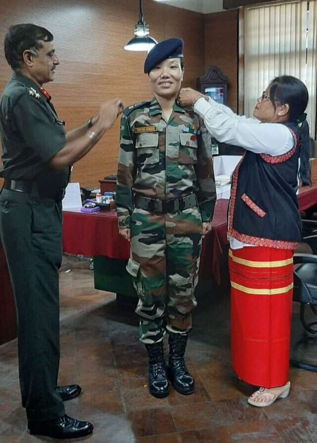 Arunachala Pradesh first woman lieutenant colonel