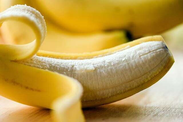 Use Banana peels for glowing skin