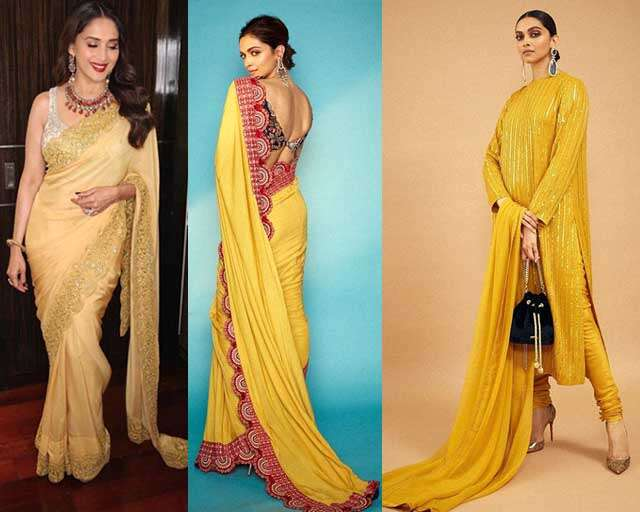 Yellow shades outfits for the Haldi ceremony