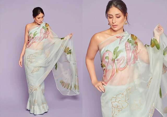 Try floral saree in your bff sangeet party