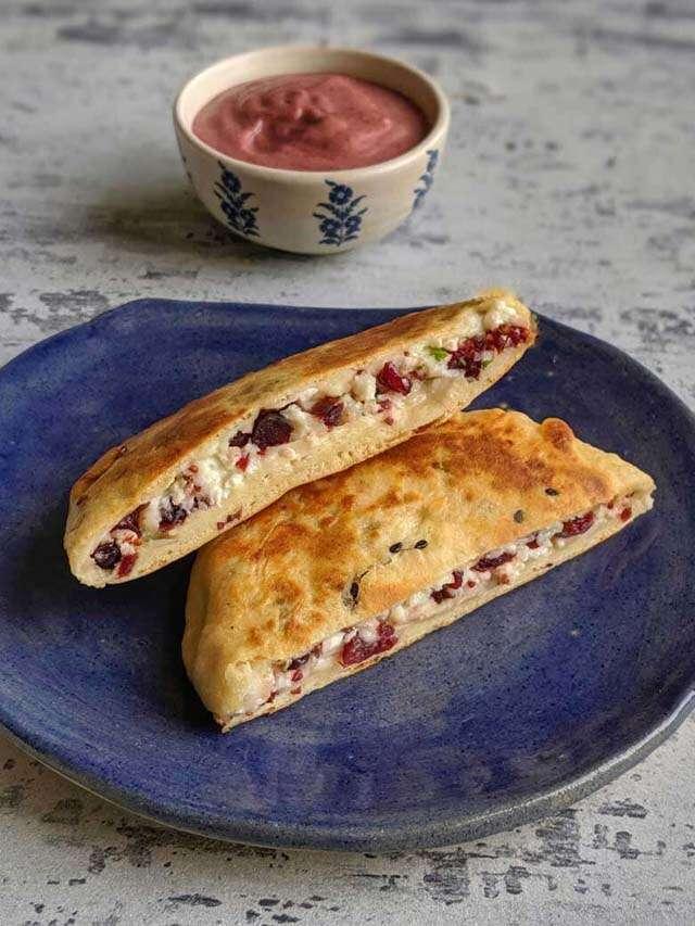 Try Healthy kulcha recipe: cheese cranberry kulcha