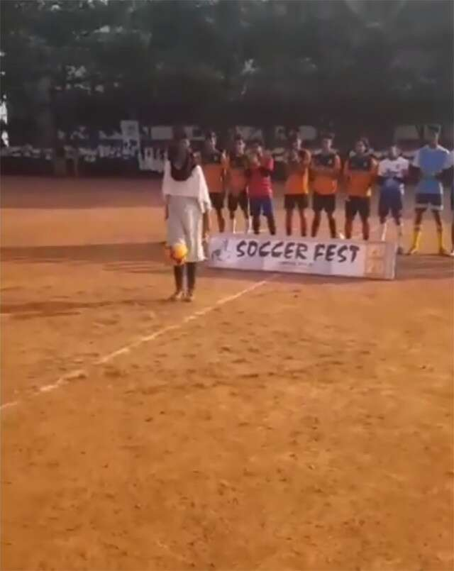 Kerala girl's free style football skill is viral on social media