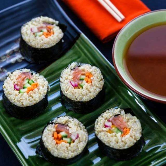 Try healthy and easy recipe: Quinoa sushi roll