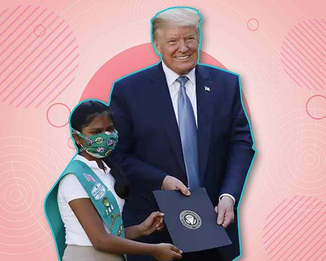 Indian-American Girl Honoured By Donald Trump for COVID-19 Work