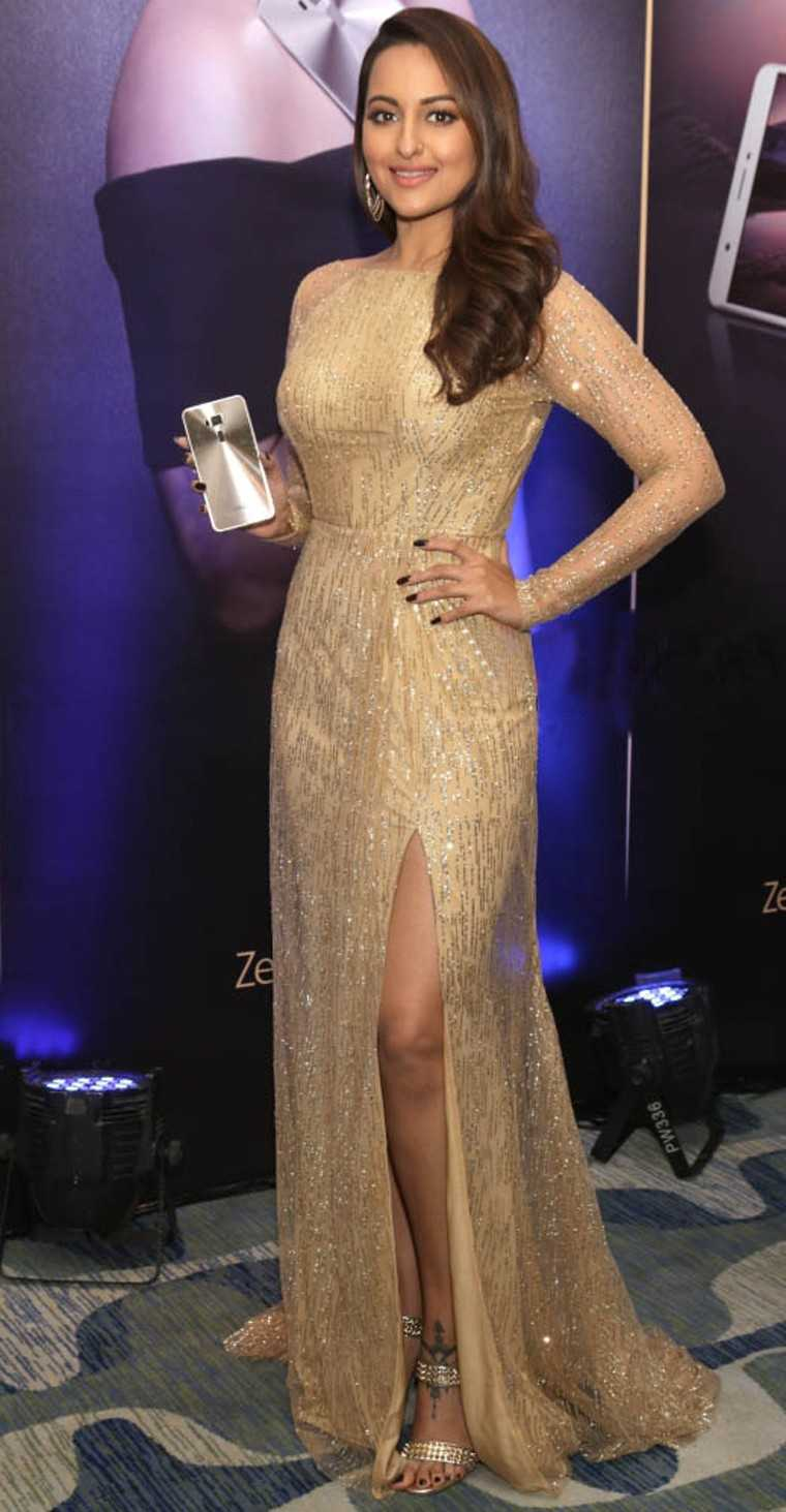 The Akira star shines in a custom Swapnil Shinde gown at a promotional event.
