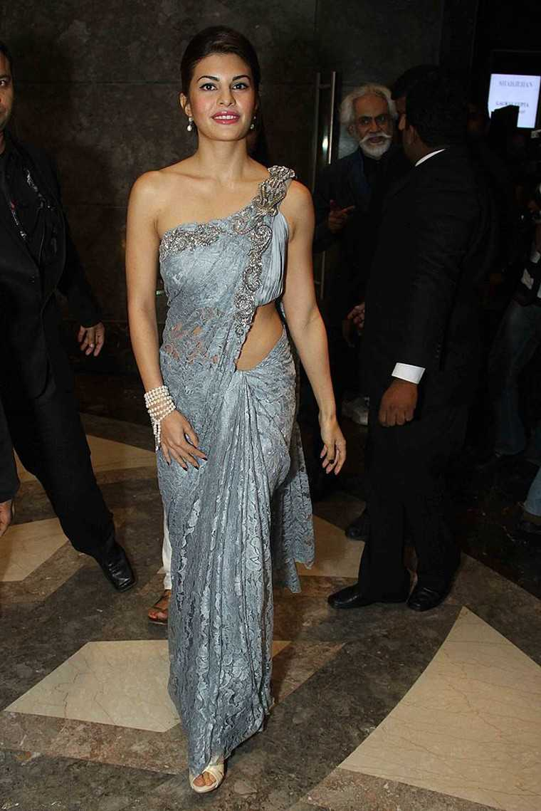 Another modern take on the sari was this lace Gaurav Gupta number that she wore in 2011.