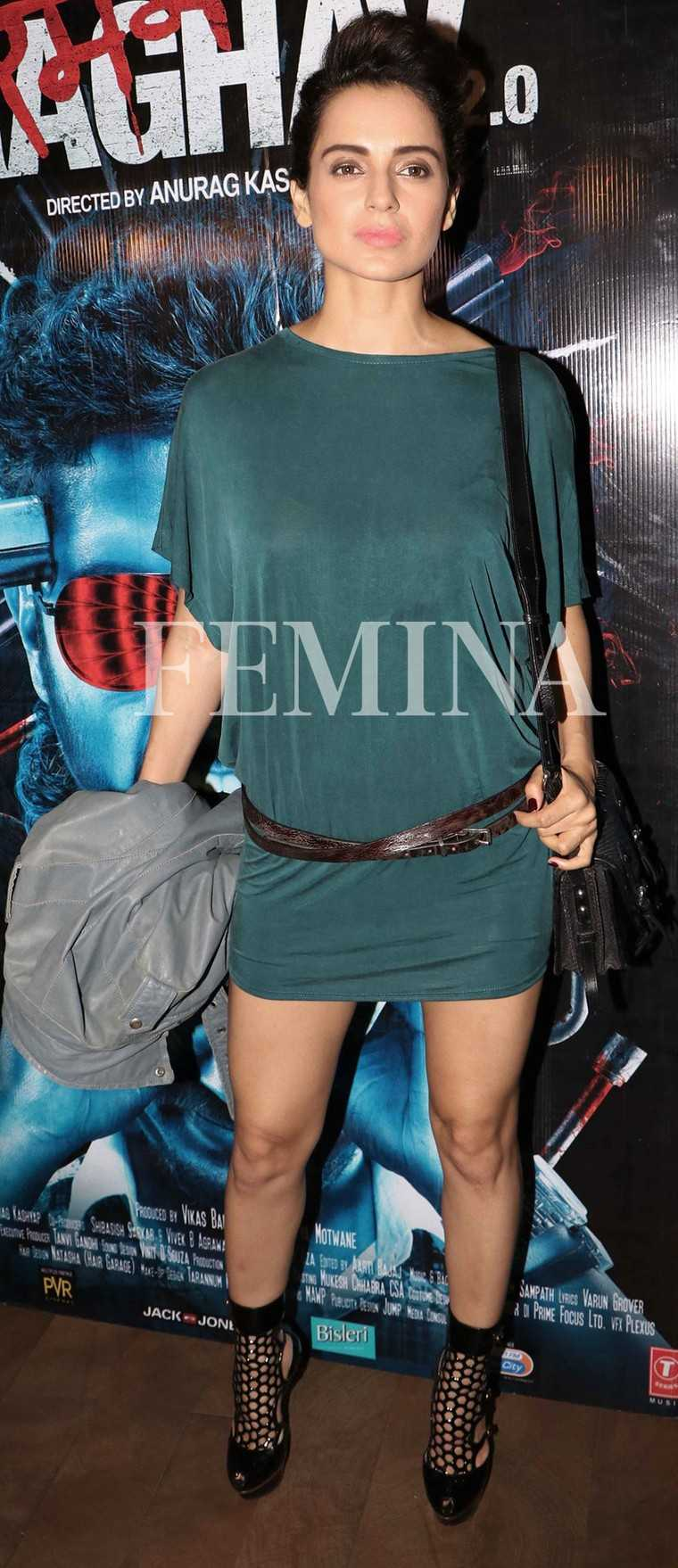 2000s:  At a recent movie screening, Kangana Ranaut went back to the Noughties in her Diesel shift dress, a low-slung belt and caged heels from Alexander McQueen.