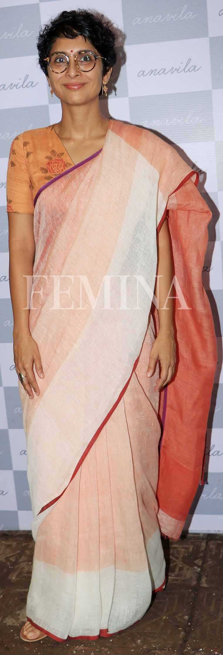 KIRAN RAO Also wearing Anavila, Kiran showed us how a printed blouse can elevate even the simplest handwoven sari.