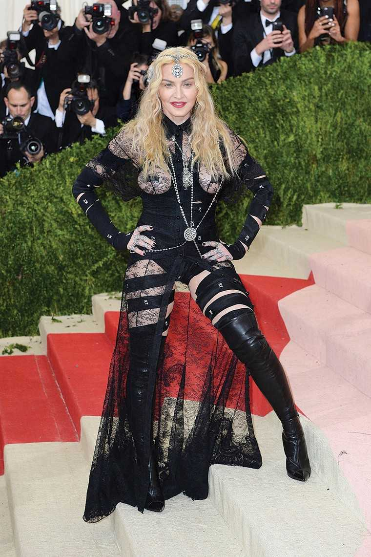 MADONNA Madonna is a fashion chameleon and has no expiry date. Through the years, her versatility has always been a topic of discussion in the fashion and music scene. Her individualistic style and fashion curator-like vibe was apparent right from her deb