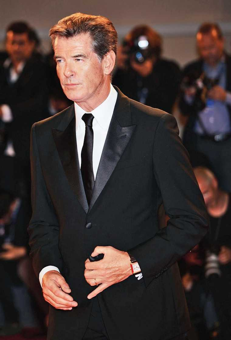 PIERCE BROSNAN He may have just turned 62, but wow does he still look good! Brosnan's sex appeal has been a close companion even as he's aged, having been starkly visible while he played Bond of course, but also in The Thomas Crown Affair, After The S