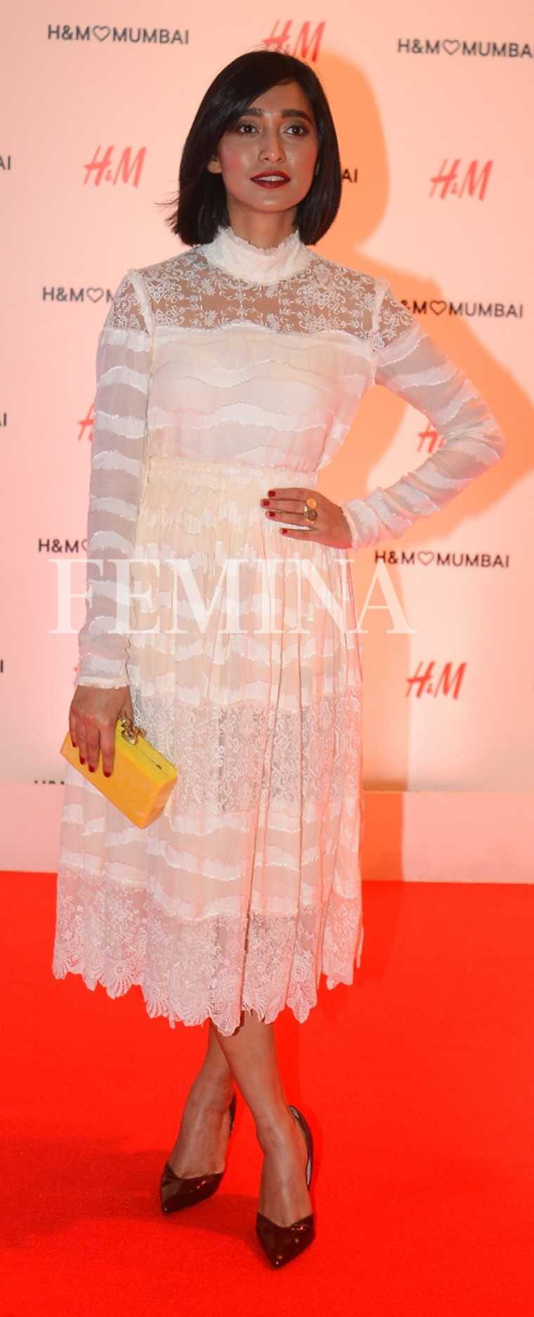 SAYANI GUPTA: Sayani went for a virginal white number by H&M which she made evening appropriate with a bright box clutch and maroon pumps.