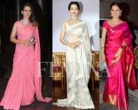 A round-up of Kangana Ranaut's top sari looks
