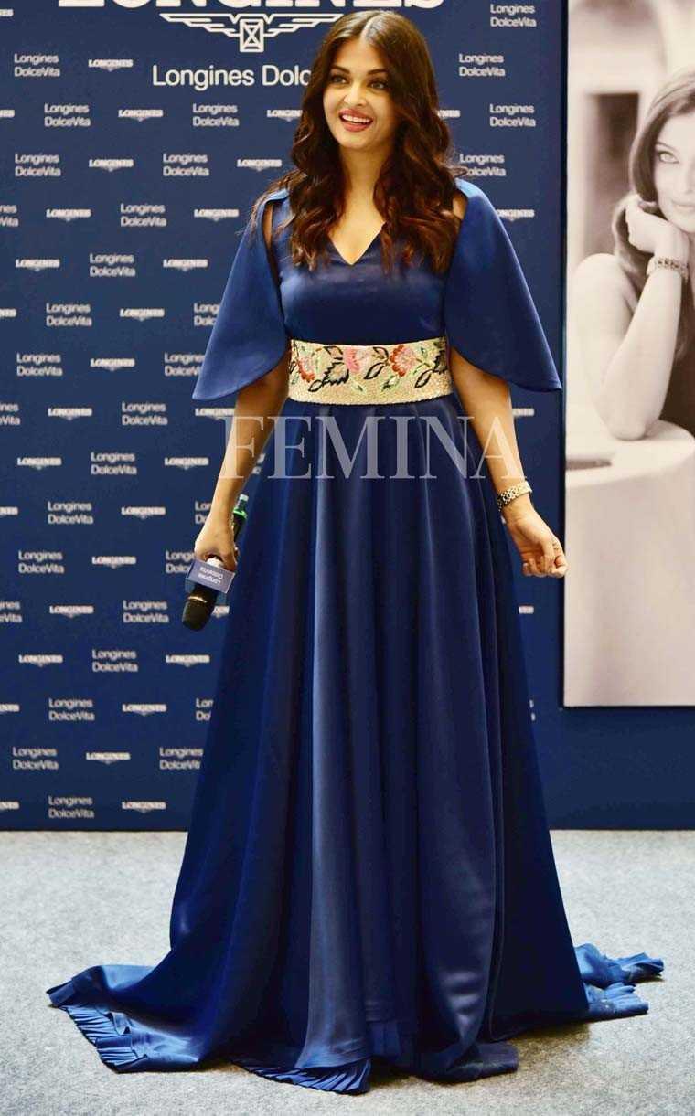 Aishwarya Rai Bachchan midnight blue Manish Malhotra