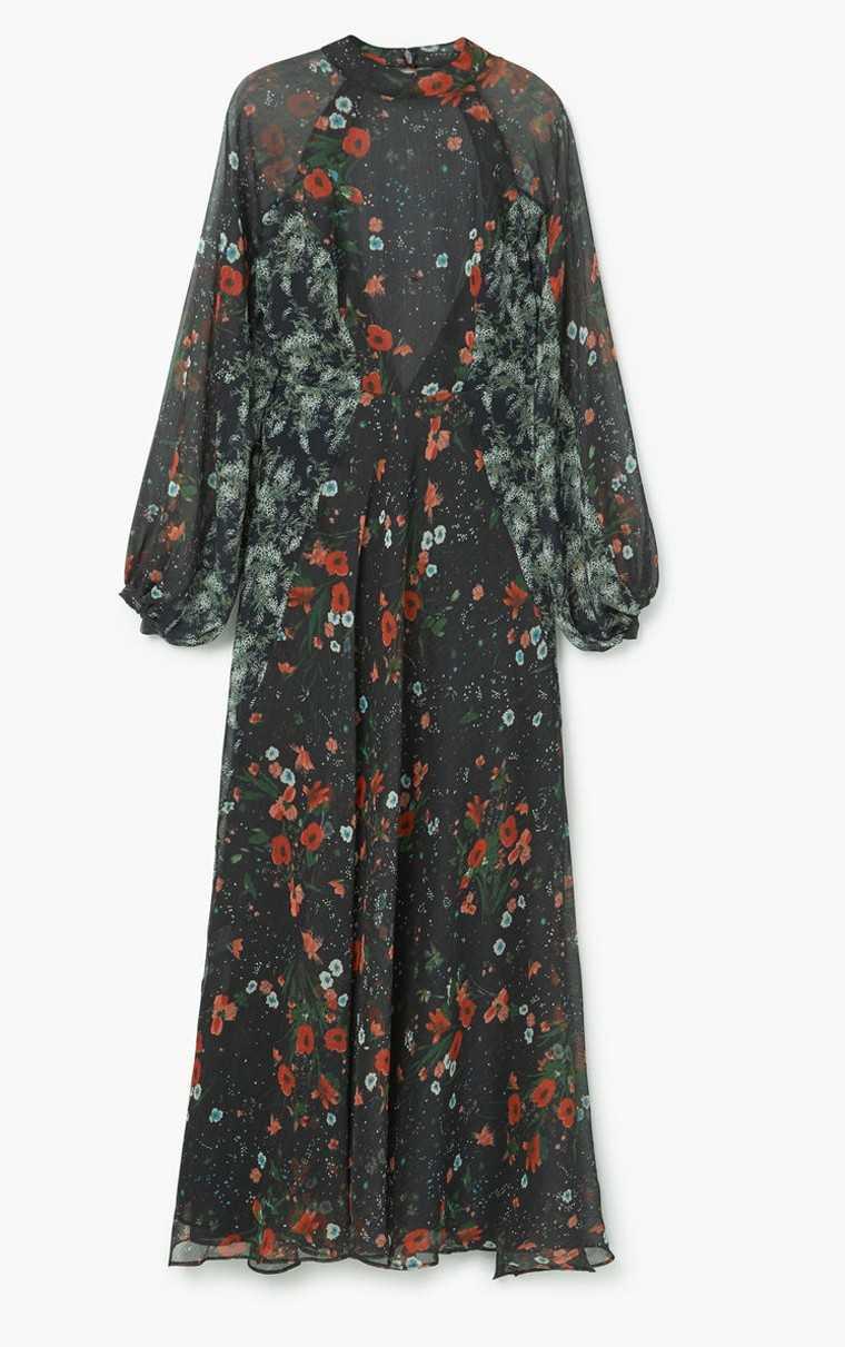 Winter florals dress