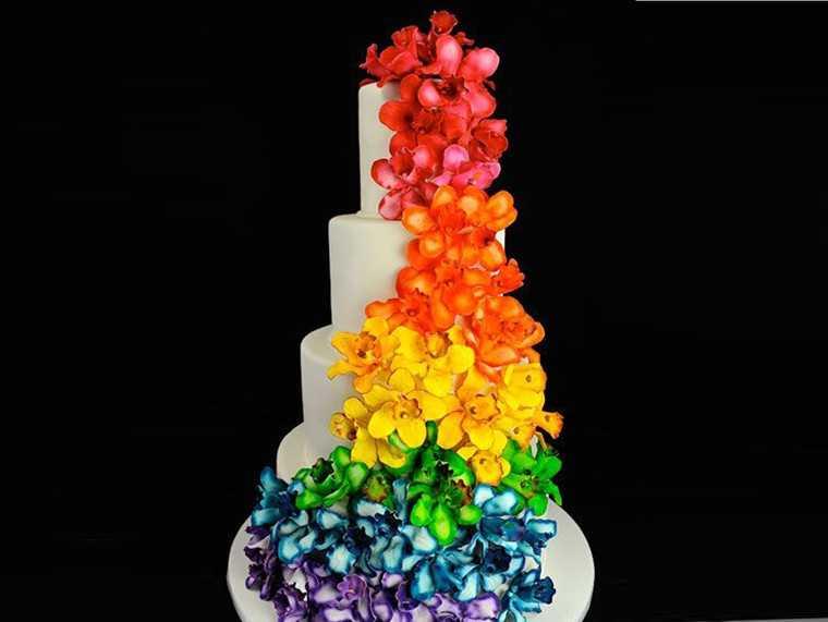 For the rainbow coloured wedding