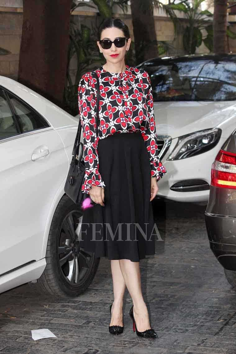 Karisma Kapoor attended the Kapoor family's Christmas lunc