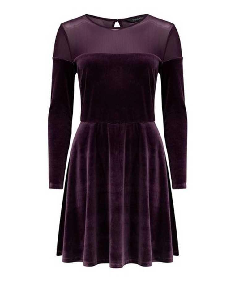 Velvet dress in sumptuous hues