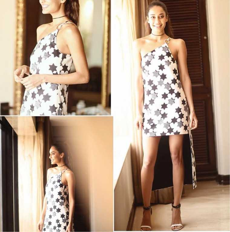 LISA HAYDON It was a skinny, lace-up piece for the sultry Lisa Haydon who paired it with a super short, Milin dress. While the dress was pretty, yet simple, it was the addition of the choker that elevated the look.