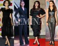 Black out: Sonam Kapoor and Kangana Ranaut love this colour