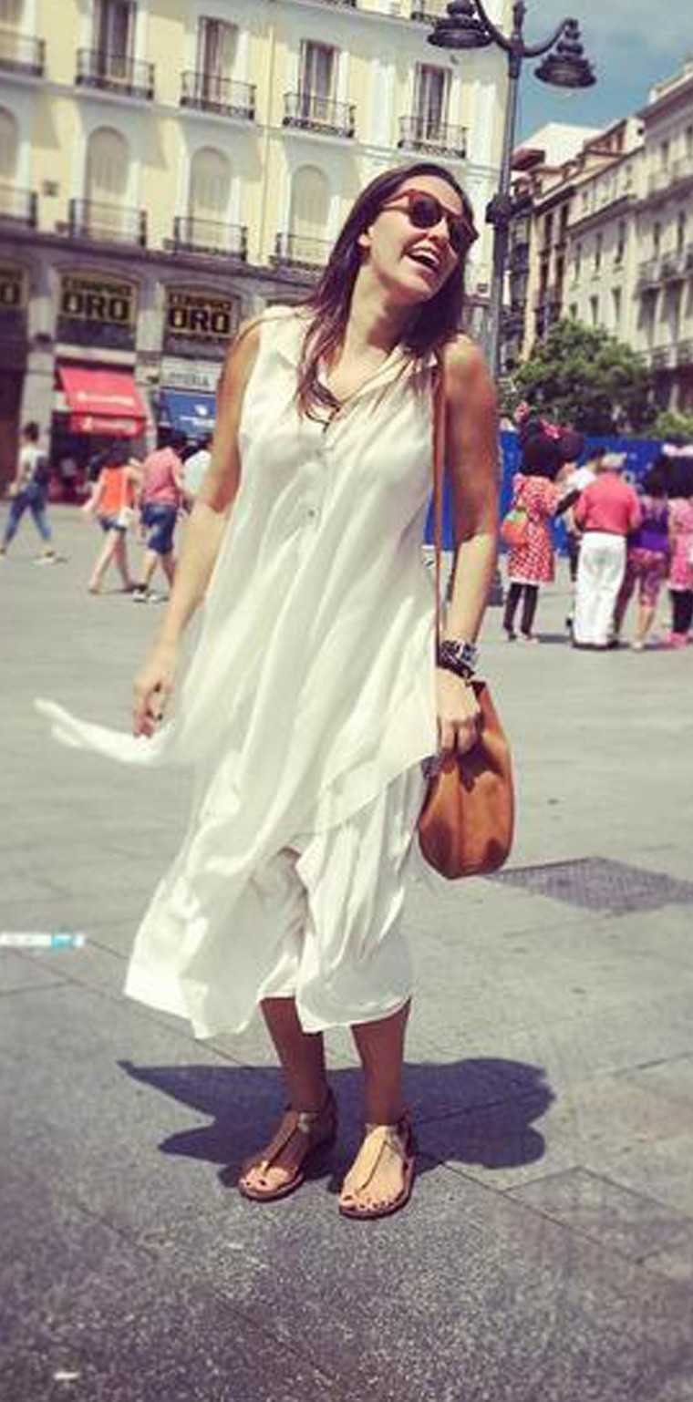 Neha Dhupia plays tourist in her asymmetrical-tunic-and-culottes combo from Rohit Gandhi & Rahul Khanna