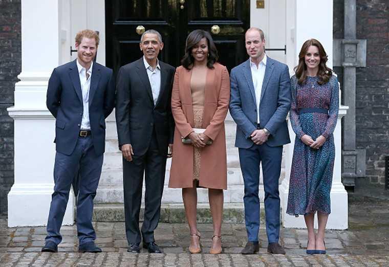Michelle Obama, Barack Obama, Kate Middleton, Prince Charles at Kensigton Palace Dinner 2016