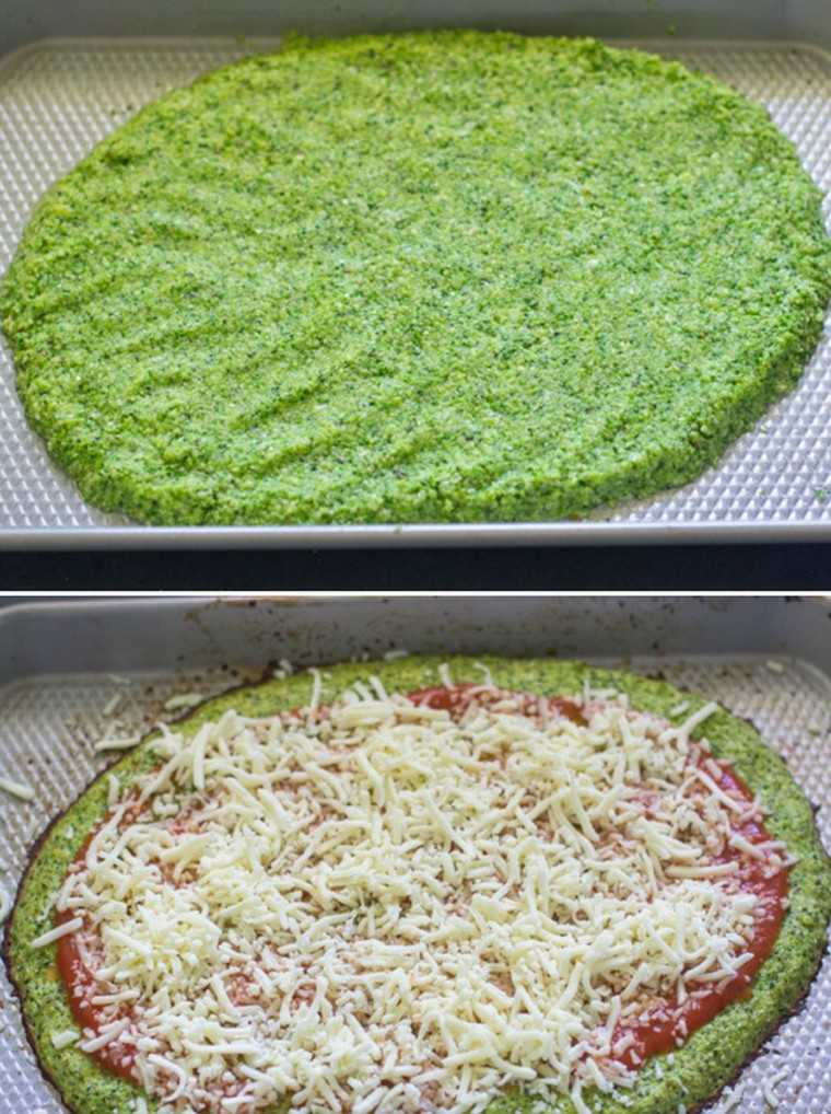 Broccoli crust pizza