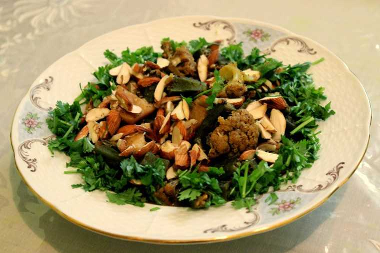 Cooked Kashmiri salad dishes from Kashmir