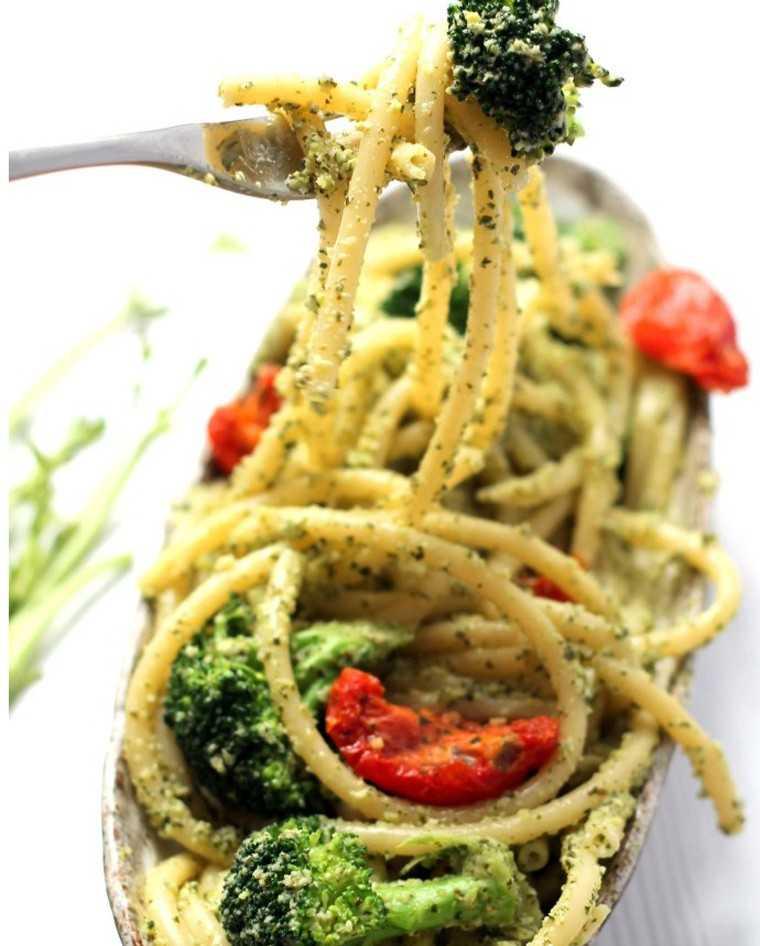lemon broccoli pesto pasta