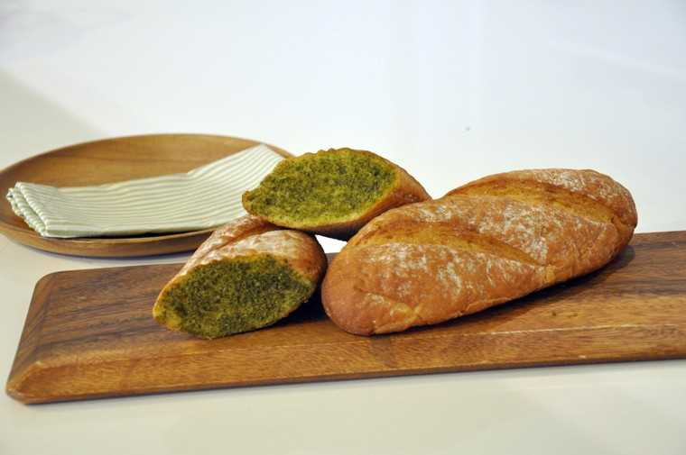 Thai green curry baguette